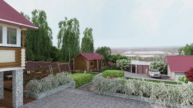 Частный участок на берегу р.Кама