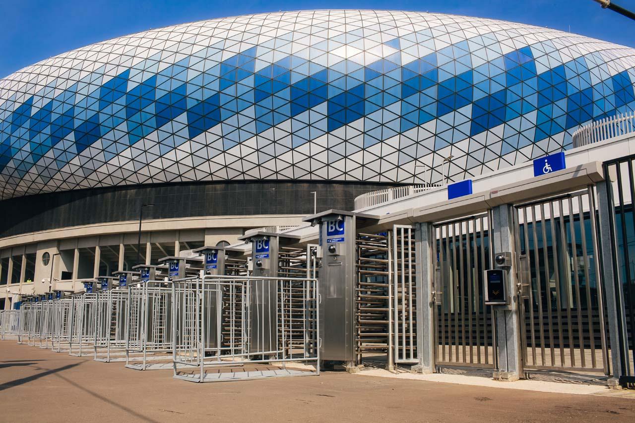 Входные группы стадиона Динамо в Москве